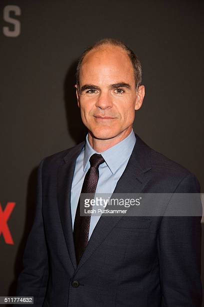 Actor Michael Kelly attends the season 4 premiere of Netflix's 'House of Cards' at the National Portrait Gallery on February 22 2016 in Washington DC
