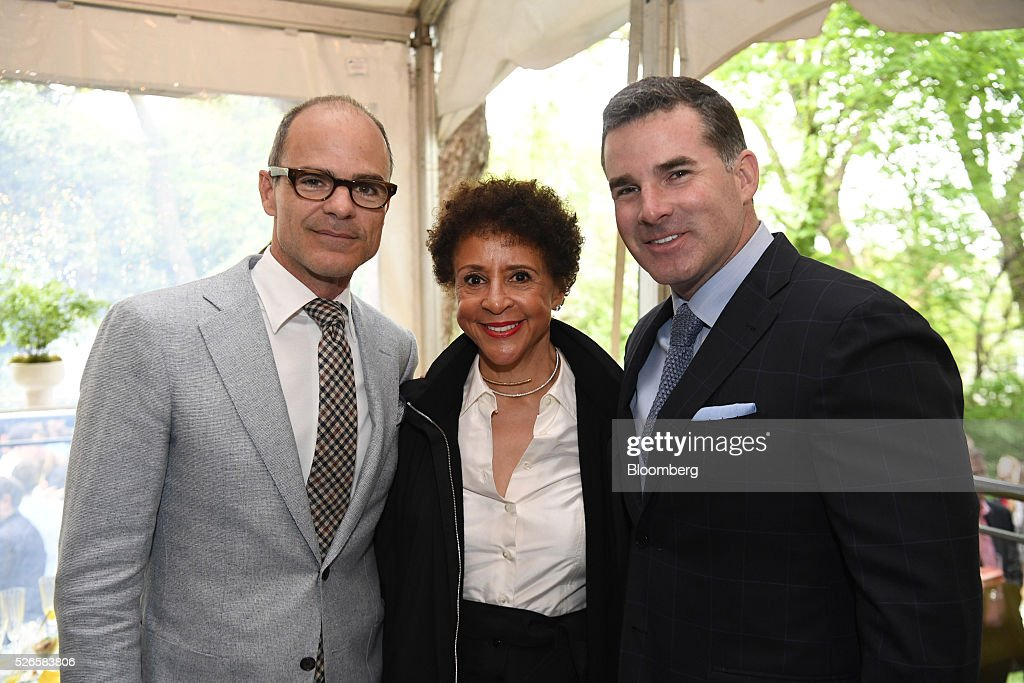 Actor <a gi-track='captionPersonalityLinkClicked' href=/galleries/search?phrase=Michael+Kelly+-+Ator&family=editorial&specificpeople=4604075 ng-click='$event.stopPropagation()'>Michael Kelly</a>, from left, <a gi-track='captionPersonalityLinkClicked' href=/galleries/search?phrase=Sheila+Johnson&family=editorial&specificpeople=608736 ng-click='$event.stopPropagation()'>Sheila Johnson</a>, co-founder of BET, and Kevin Plank, founder and chief executive officer of Under Armour Inc., attend the 23rd Annual White House Correspondents' Garden Brunch in Washington, D.C., U.S., on Saturday, April 30, 2016. The event will raise awareness for Halcyon Incubator, an organization that supports early stage social entrepreneurs 'seeking to change the world' through an immersive 18-month fellowship program. Photographer: David Paul Morris/Bloomberg via Getty Images