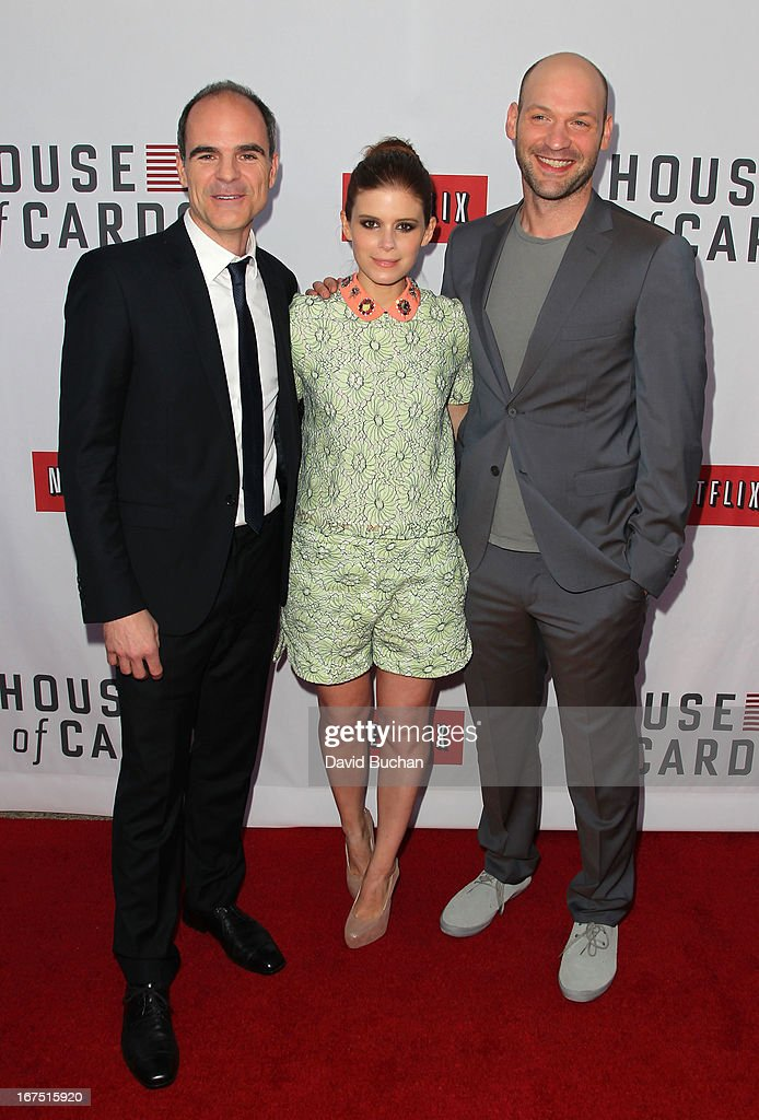 Actor Michael Kelly, Kate Mara and Corey Stoll attend Netflix's 'House Of Cards' For Your Consideration Q&A Event at at Leonard H. Goldenson Theatre on April 25, 2013 in North Hollywood, California.