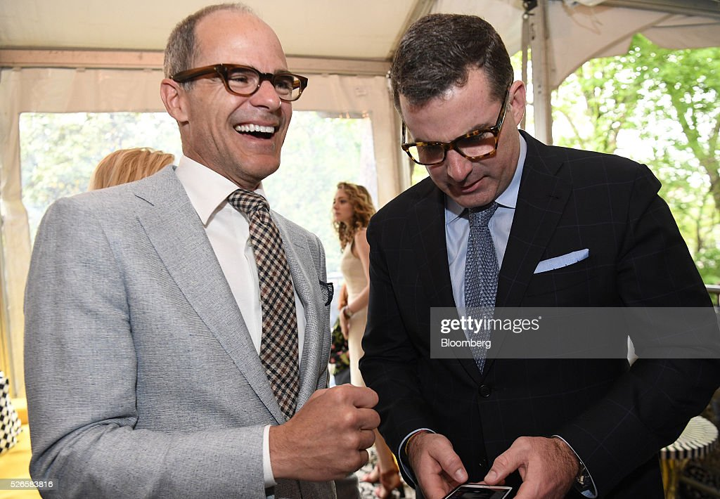 Actor <a gi-track='captionPersonalityLinkClicked' href=/galleries/search?phrase=Michael+Kelly+-+Ator&family=editorial&specificpeople=4604075 ng-click='$event.stopPropagation()'>Michael Kelly</a>, left, and Kevin Plank, founder and chief executive officer of Under Armour Inc., attend the 23rd Annual White House Correspondents' Garden Brunch in Washington, D.C., U.S., on Saturday, April 30, 2016. The event will raise awareness for Halcyon Incubator, an organization that supports early stage social entrepreneurs 'seeking to change the world' through an immersive 18-month fellowship program. Photographer: David Paul Morris/Bloomberg via Getty Images