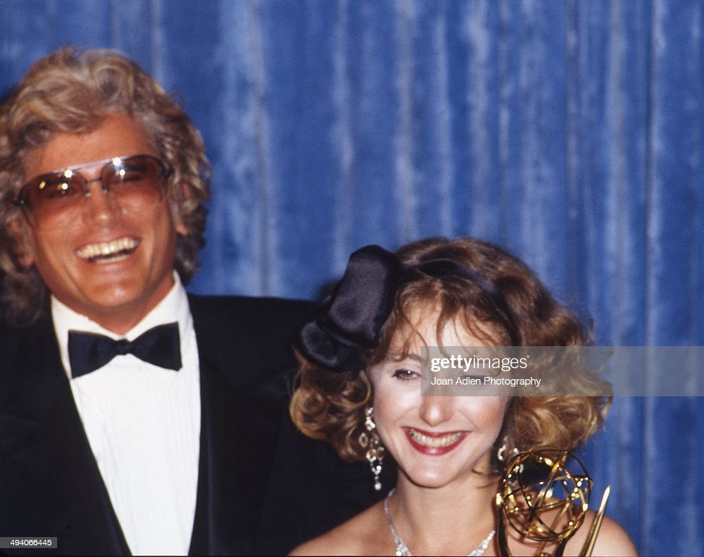 Actor <a gi-track='captionPersonalityLinkClicked' href=/galleries/search?phrase=Michael+Landon&family=editorial&specificpeople=228407 ng-click='$event.stopPropagation()'>Michael Landon</a> presented actress <a gi-track='captionPersonalityLinkClicked' href=/galleries/search?phrase=Carol+Kane&family=editorial&specificpeople=215175 ng-click='$event.stopPropagation()'>Carol Kane</a> the award for Outstanding Supporting Actress in a Comedy, Variety or Music Series - Taxi, at the 35th Annual Primetime Emmy Awards held at the Pasadena Civic Auditorium on September 25, 1983 in Pasadena, California.