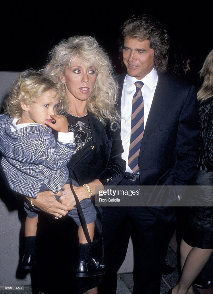 Actor Michael Landon, wife Cindy Landon and son Sean Landon attend the National Down Syndrome Congress' Second Annual Michael Landon Celebrity Gala on October 15, 1988 at Filmland Center in Culver City, California.