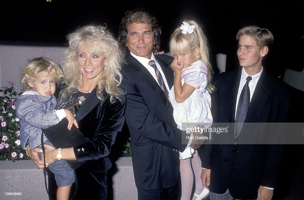 Actor <a gi-track='captionPersonalityLinkClicked' href=/galleries/search?phrase=Michael+Landon&family=editorial&specificpeople=228407 ng-click='$event.stopPropagation()'>Michael Landon</a>, wife Cindy Landon, son Sean Landon, daughter <a gi-track='captionPersonalityLinkClicked' href=/galleries/search?phrase=Jennifer+Landon&family=editorial&specificpeople=663639 ng-click='$event.stopPropagation()'>Jennifer Landon</a> and son Christopher Landon attend the National Down Syndrome Congress' Second Annual <a gi-track='captionPersonalityLinkClicked' href=/galleries/search?phrase=Michael+Landon&family=editorial&specificpeople=228407 ng-click='$event.stopPropagation()'>Michael Landon</a> Celebrity Gala on October 15, 1988 at Filmland Center in Culver City, California.