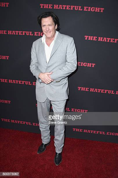 Actor Michael Madsen attends the Premiere of The Weinstein Company's 'The Hateful Eight' at ArcLight Cinemas Cinerama Dome on December 7 2015 in...
