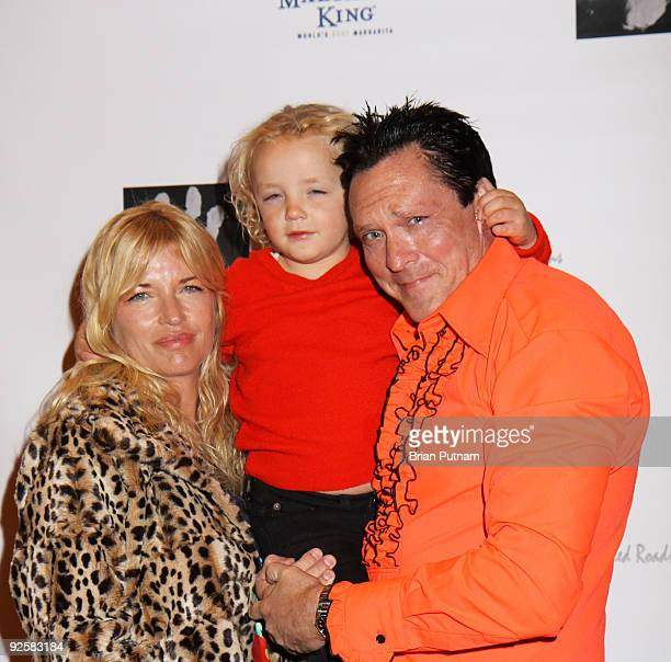 Actor Michael Madsen his wife DeAnna and their daughter arrive for the signing of Michael Madsen's book 'American Badass' at Matteo's Restaurant on...