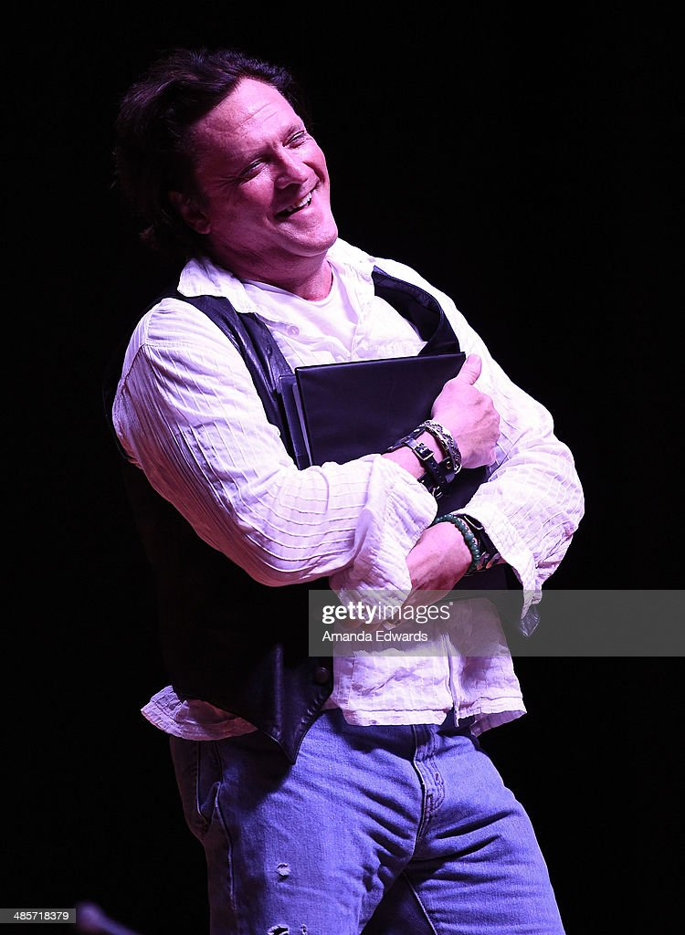 Actor Michael Madsen participates in the world premiere of a staged reading by Quentin Tarantino: 'The Hateful Eight' presented by Film Independent at The Theatre at Ace Hotel Downtown LA on April 19, 2014 in Los Angeles, California.