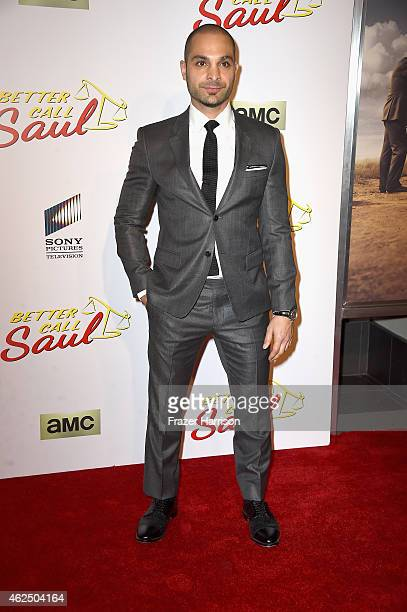 Actor Michael Mando arrives at the Series Premiere Of AMC's 'Better Call Saul' at Regal Cinemas LA Live on January 29 2015 in Los Angeles California