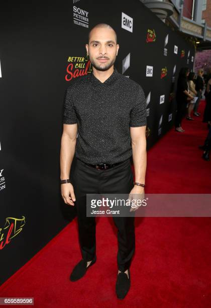 Actor Michael Mando attends AMC's 'Better Call Saul' season 3 premiere at ArcLight Cinemas on March 28 2017 in Culver City California
