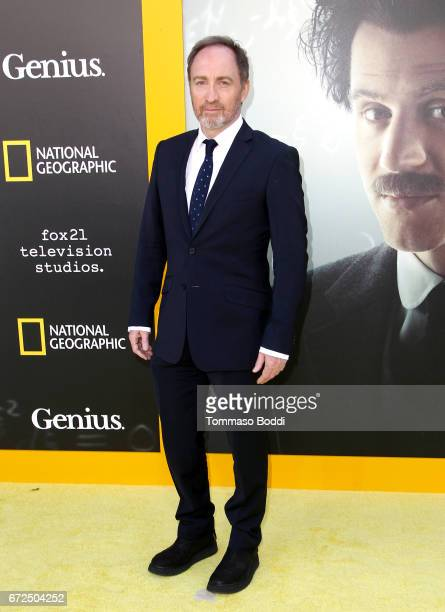 Actor Michael McElhatton attends the Los Angeles Premiere Screening of National Geographics 'Genius' the Fox Theater on April 24 2017 in Los Angeles...