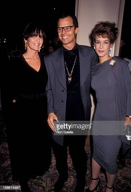 Actor Michael Nader wife Beth Windsor and actress Ali McGraw attending 'Banff Celebrity Sports Invitational' on January 10 1991 in Banff Springs...