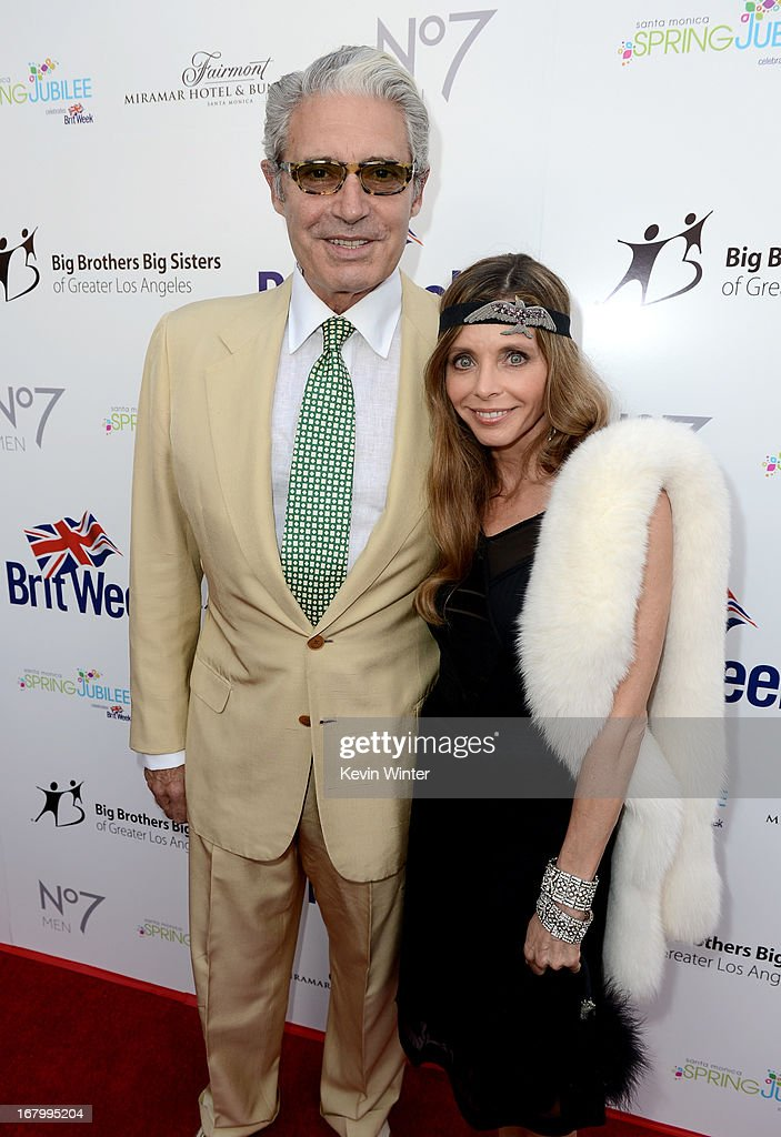 Actor Michael Nouri (L) and Kathy Fischer attend BritWeek Celebrates Downton Abbey at The Fairmont Miramar Hotel on May 3, 2013 in Santa Monica, California.