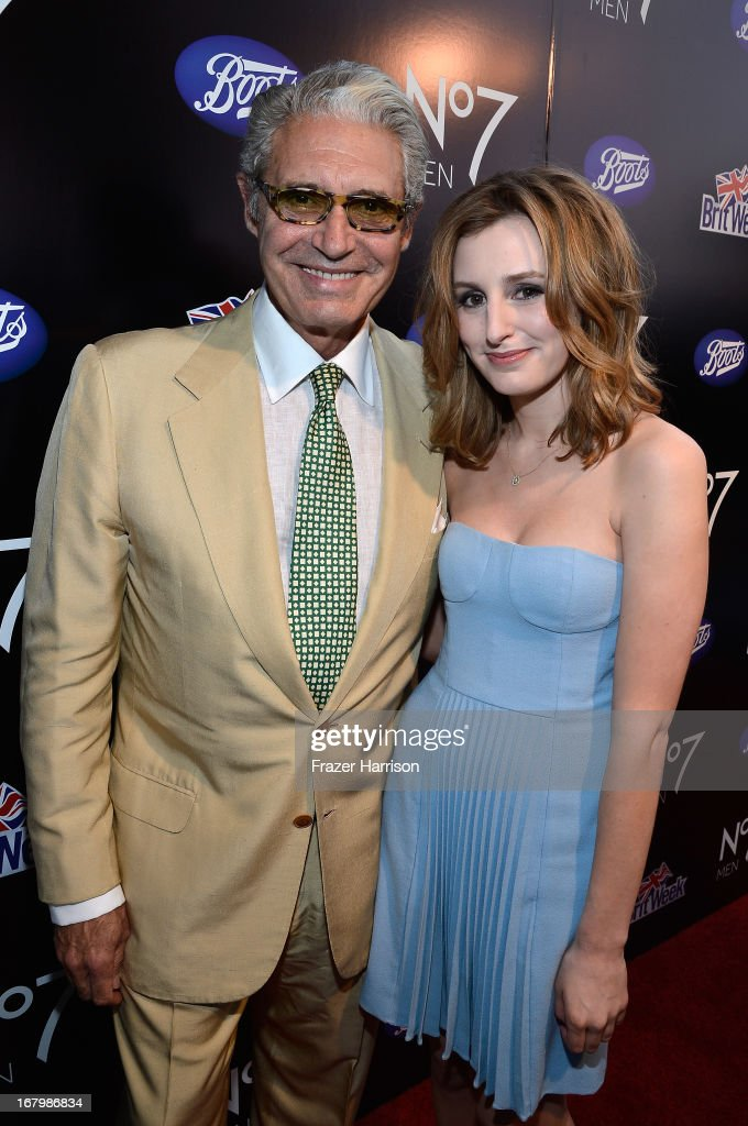 Actor <a gi-track='captionPersonalityLinkClicked' href=/galleries/search?phrase=Michael+Nouri&family=editorial&specificpeople=234358 ng-click='$event.stopPropagation()'>Michael Nouri</a> and <a gi-track='captionPersonalityLinkClicked' href=/galleries/search?phrase=Laura+Carmichael&family=editorial&specificpeople=7201392 ng-click='$event.stopPropagation()'>Laura Carmichael</a> attend the Boots Not Men Launch at Britweek 2013 at The Fairmont Miramar Hotel on May 3, 2013 in Santa Monica, California.