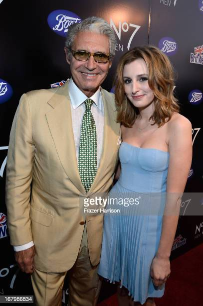 Actor Michael Nouri and Laura Carmichael attend the Boots Not Men Launch at Britweek 2013 at The Fairmont Miramar Hotel on May 3 2013 in Santa Monica...