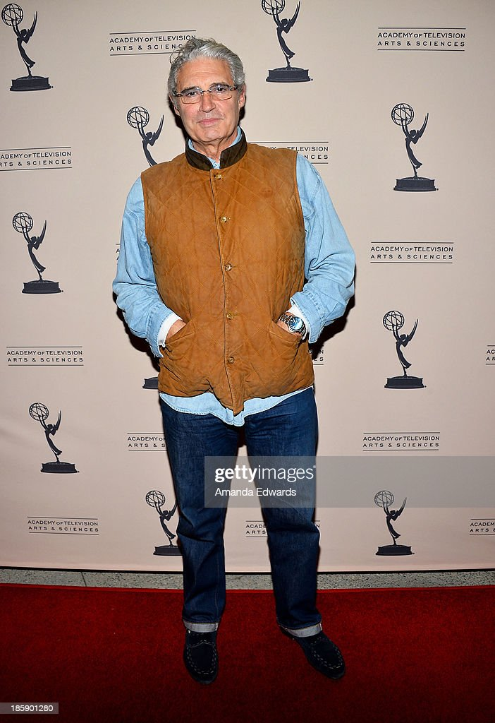 Actor <a gi-track='captionPersonalityLinkClicked' href=/galleries/search?phrase=Michael+Nouri&family=editorial&specificpeople=234358 ng-click='$event.stopPropagation()'>Michael Nouri</a> arrives at an evening with 'Sons Of Anarchy' presented by The Television Academy at the Leonard H. Goldenson Theatre on October 25, 2013 in North Hollywood, California.