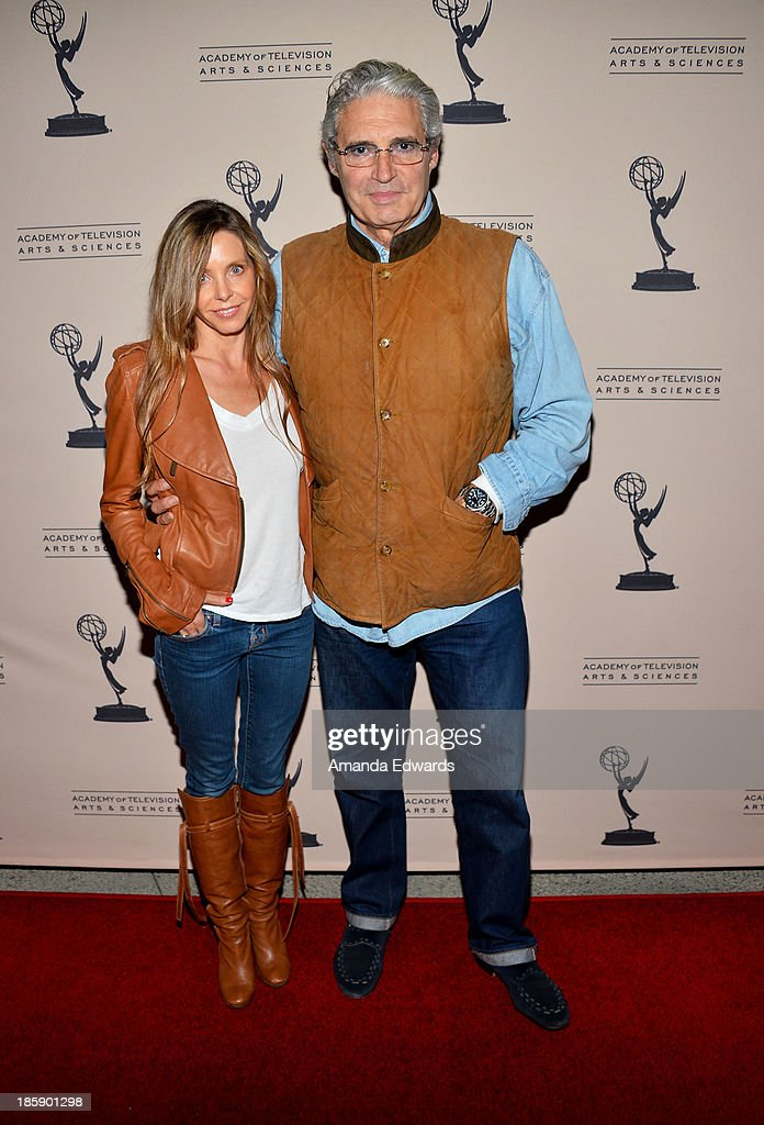 Actor <a gi-track='captionPersonalityLinkClicked' href=/galleries/search?phrase=Michael+Nouri&family=editorial&specificpeople=234358 ng-click='$event.stopPropagation()'>Michael Nouri</a> (R) arrives at an evening with 'Sons Of Anarchy' presented by The Television Academy at the Leonard H. Goldenson Theatre on October 25, 2013 in North Hollywood, California.