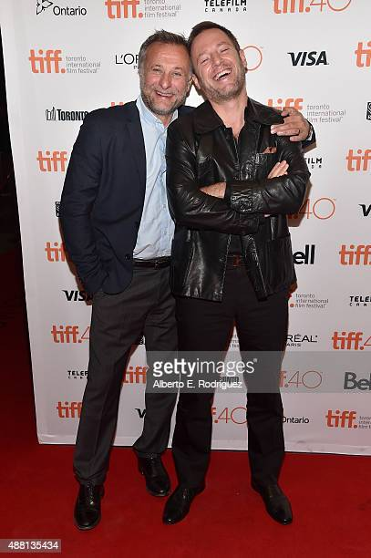 Actor Michael Nyqvist and director Florian Gallenberger attend the 'Colonia' premiere during the 2015 Toronto International Film Festival at the...