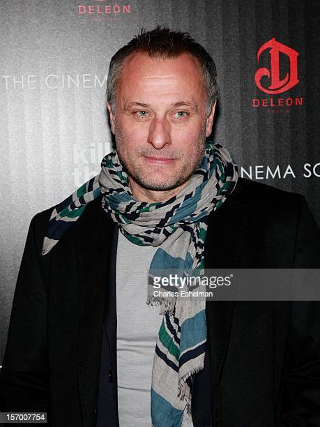 Actor Michael Nyqvist attends a screening of The Weinstein Company's 'Killing Them Softly' hosted by The Cinema Society with Men's Health and DeLeon...