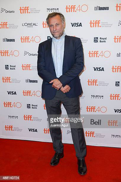 Actor Michael Nyqvist attends the premiere of 'Colonia' during the 2015 Toronto International Film Festival at Princess of Wales Theatre on September...