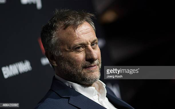 Actor Michael Nyqvist poses during a photo call for the Sky Series Night '100 Code' on March 15 2015 in Munich Germany