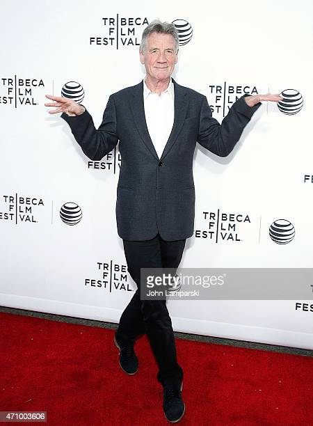 Actor Michael Palin attends Special Screening Narrative 'Monty Python And The Holy Grail' during the 2015 Tribeca Film Festival at Beacon Theatre on...