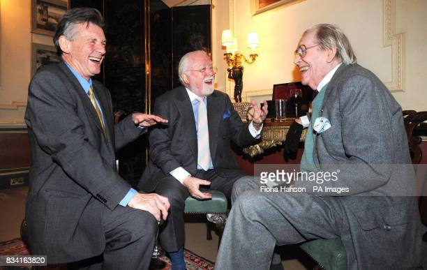 Actor Michael Palin left with film director Lord Attenborough centre and actor Peter O'Toole at Clarence House today where the Prince of Wales hosted...