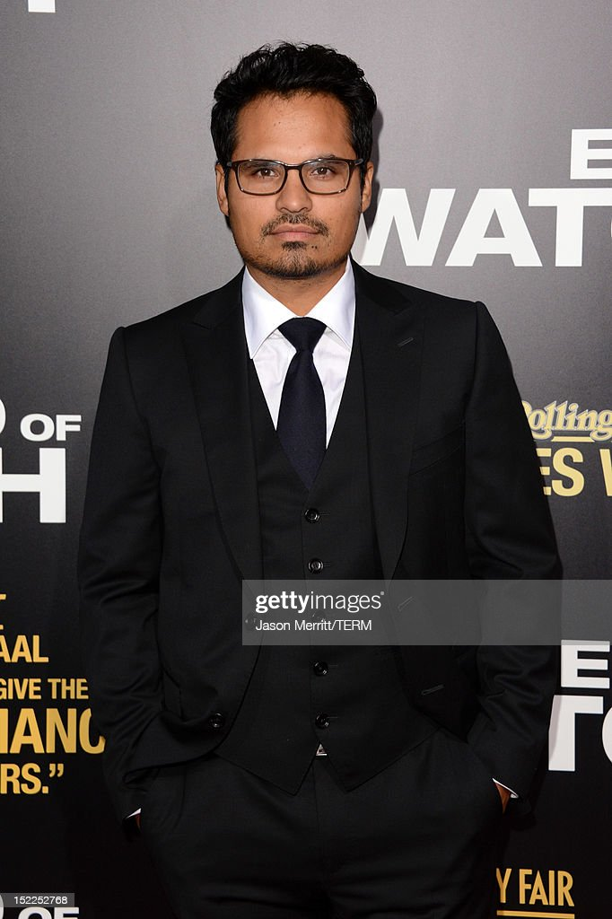 Actor Michael Pena arrive at the premiere of Open Road Films' 'End of Watch' at Regal Cinemas L.A. Live on September 17, 2012 in Los Angeles, California.