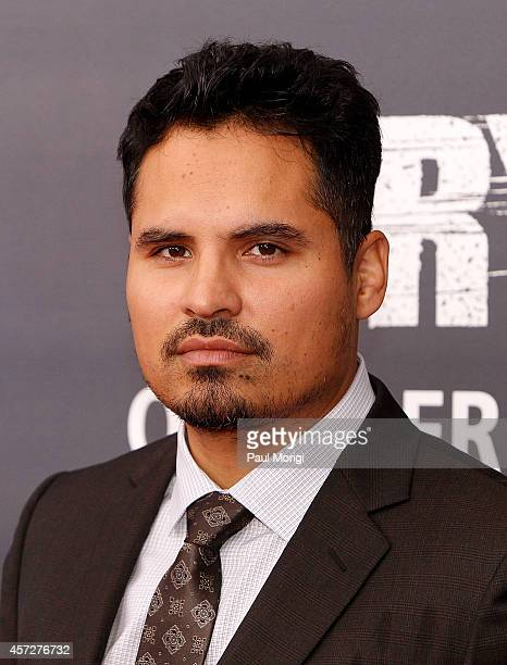 Actor Michael Pena arrives at the 'Fury' Washington DC Premiere at The Newseum on October 15 2014 in Washington DC
