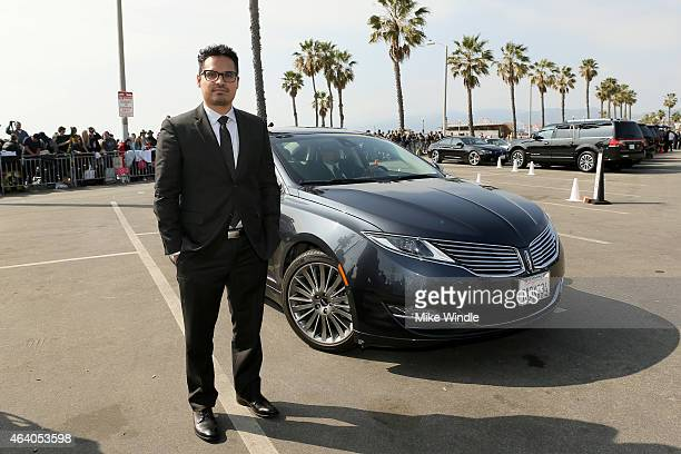 Actor Michael Pena arrives with a Lincoln during the 30th Annual Film Independent Spirit Awards at Santa Monica Beach on February 21 2015 in Santa...