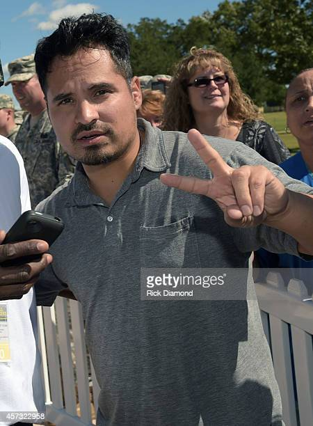 Actor Michael Pena attends 'Fury' Fort Benning Special Screening on October 16 2014 in Columbus Georgia