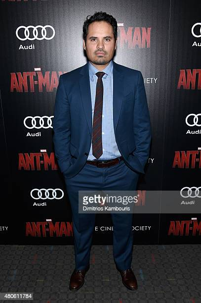 Actor Michael Pena attends Marvel's screening of 'AntMan' hosted by The Cinema Society and Audi at SVA Theater on July 13 2015 in New York City