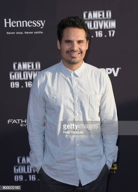"""Actor Michael Pena attends the Canelo Alvarez and Gennady """"GGG"""" Golovkin press tour presented by Hennessy at AVALON Hollywood on June 22 2017 in Los..."""