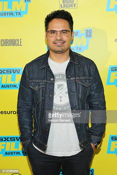 Actor Michael Pena attends the 'War On Everyone' premiere during the 2016 SXSW Music Film Interactive Festival at Topfer Theatre at ZACH on March 12...