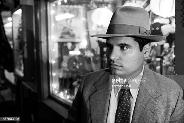 Actor Michael Pena poses behind the scenes for the movie Gangster Squad Downtown Los Angeles California 2012