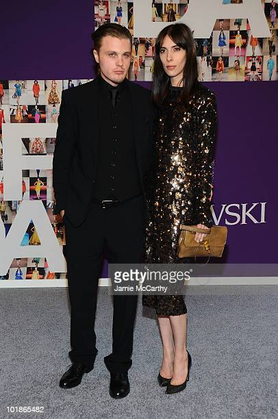 Actor Michael Pitt and Jamie Bochert attend the 2010 CFDA Fashion Awards at Alice Tully Hall at Lincoln Center on June 7 2010 in New York City
