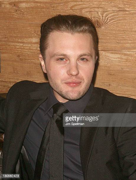 Actor Michael Pitt attends Esquire Big Black Book party at Darby Downstairs on October 26 2011 in New York City