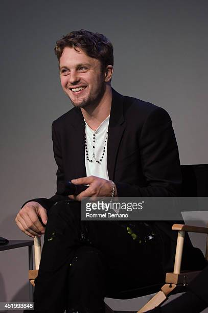 Actor Michael Pitt attends Meet The Filmmaker Mike Cahill and Michael Pitt 'I Origins' at Apple Store Soho on July 10 2014 in New York City