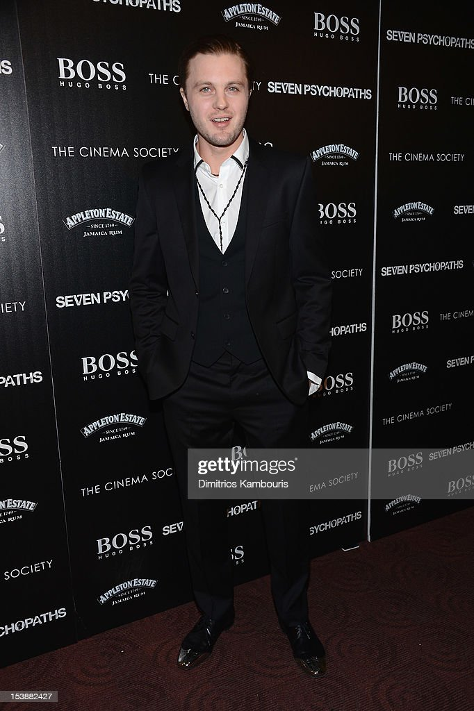 Actor Michael Pitt attends The Cinema Society with Hugo Boss and Appleton Estate screening of 'Seven Psychopaths' at Clearview Chelsea Cinemas on October 10, 2012 in New York City.