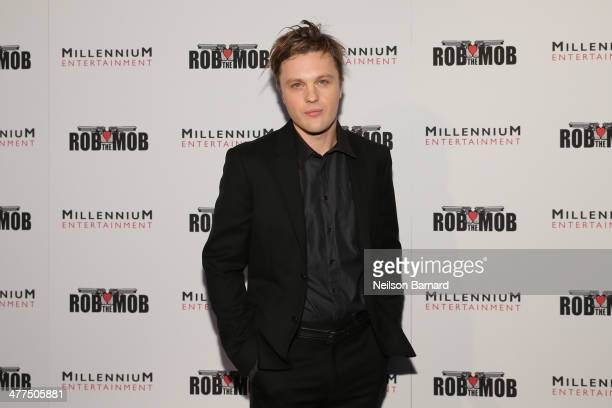 Actor Michael Pitt attends the 'Rob The Mob' special screening at Sunshine Landmark on March 9 2014 in New York City