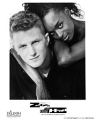 Actor Michael Rapaport and actress N'Bushe Wright on set of the movie 'Zebrahead' circa 1992