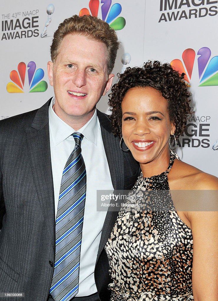 Actor Michael Rapaport (L) and guest arrive at the 43rd NAACP Image Awards held at The Shrine Auditorium on February 17, 2012 in Los Angeles, California.