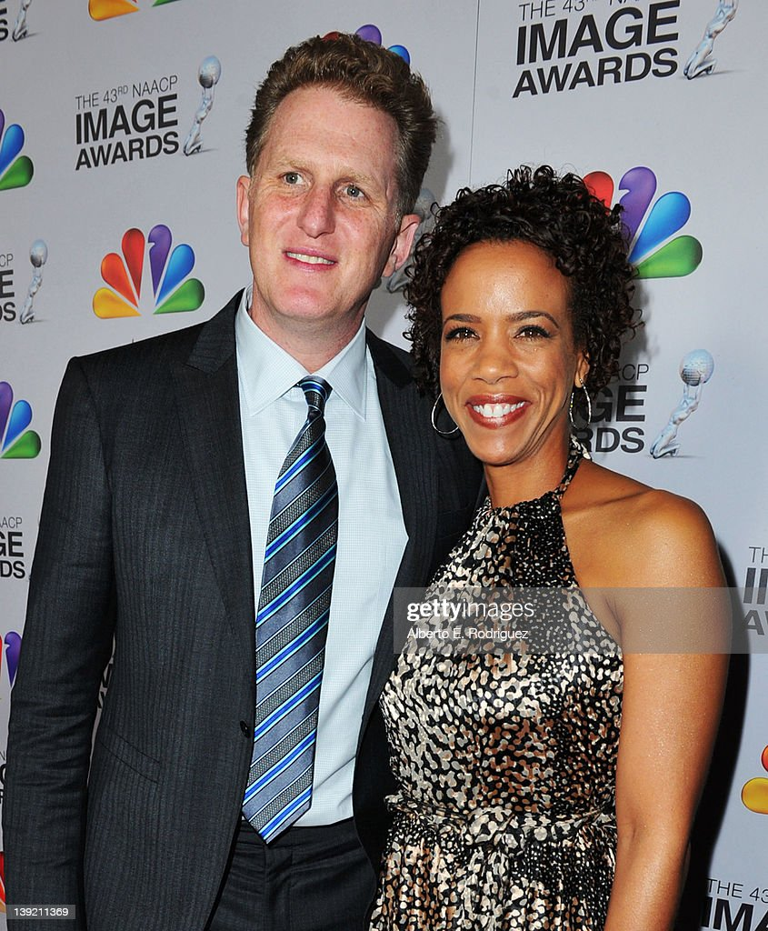 Actor Michael Rapaport and guest arrive at the 43rd NAACP Image Awards held at The Shrine Auditorium on February 17, 2012 in Los Angeles, California.