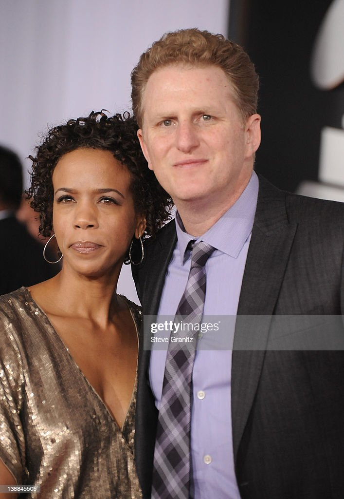 Actor Michael Rapaport (R) and guest arrive at The 54th Annual GRAMMY Awards at Staples Center on February 12, 2012 in Los Angeles, California.