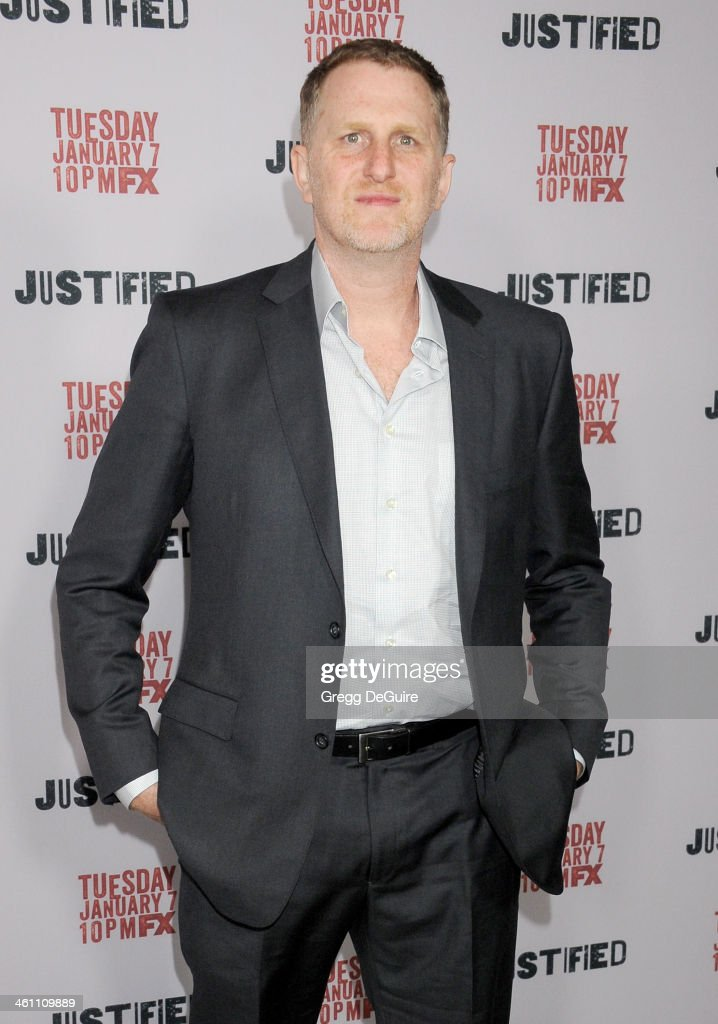 Actor Michael Rapaport arrives at the Los Angeles premiere of FX 'Justified' at DGA Theater on January 6, 2014 in Los Angeles, California.