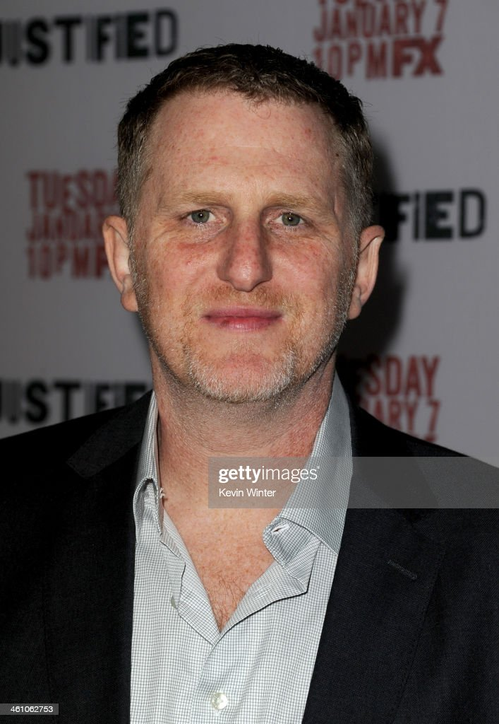 Actor <a gi-track='captionPersonalityLinkClicked' href=/galleries/search?phrase=Michael+Rapaport&family=editorial&specificpeople=234353 ng-click='$event.stopPropagation()'>Michael Rapaport</a> attends the season 5 premiere screening of FX's 'Justified' at the DGA Theater on January 6, 2014 in Los Angeles, California.