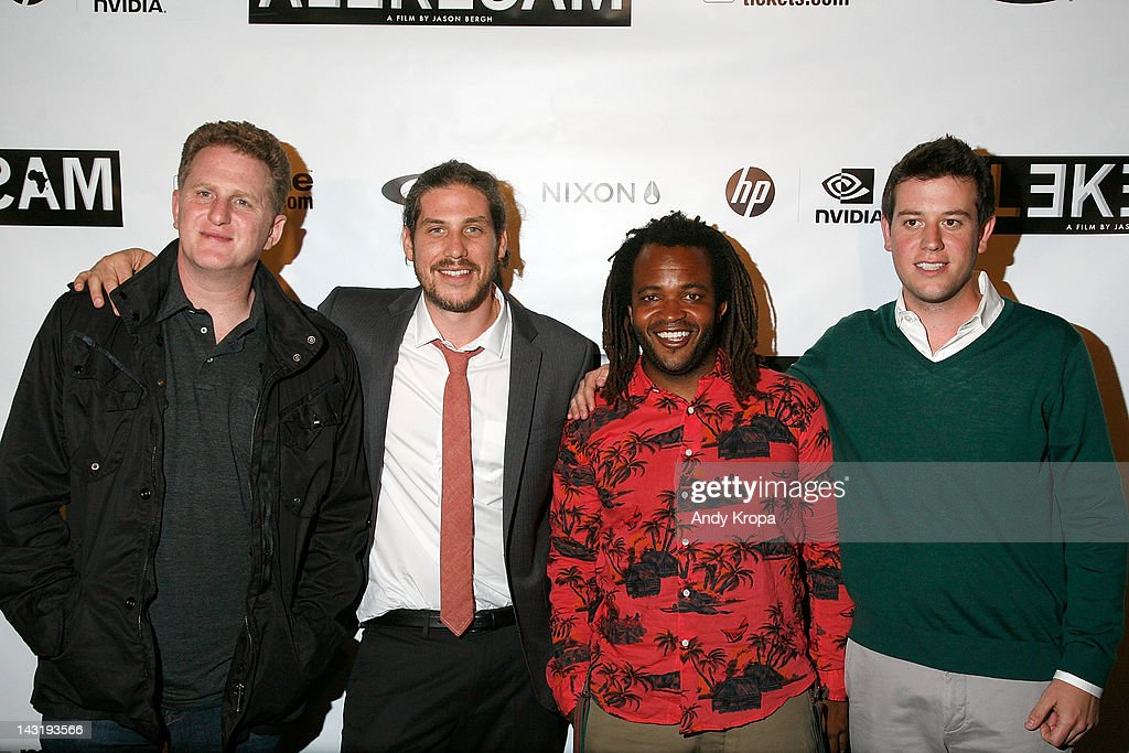Actor <a gi-track='captionPersonalityLinkClicked' href=/galleries/search?phrase=Michael+Rapaport&family=editorial&specificpeople=234353 ng-click='$event.stopPropagation()'>Michael Rapaport</a>, director Jason Bergh, <a gi-track='captionPersonalityLinkClicked' href=/galleries/search?phrase=Sal+Masekela&family=editorial&specificpeople=572654 ng-click='$event.stopPropagation()'>Sal Masekela</a> and Ben Lyons attend the 'Alekesam' premiere at the Tribeca Grand Hotel on April 20, 2012 in New York City.