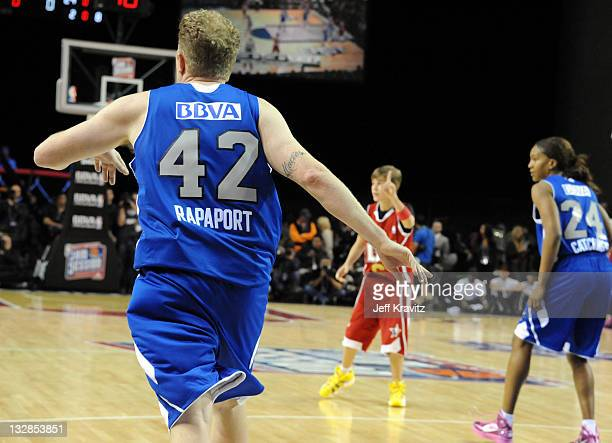 Actor Michael Rapaport during the 2011 BBVA NBA AllStar Celebrity Game at Los Angeles Convention Center on February 18 2011 in Los Angeles California
