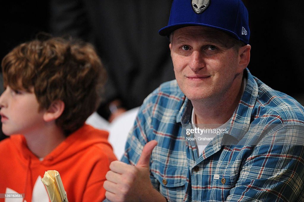 Actor Michael Rappaport watches the BBVA Rising Stars Challenge as part of 2012 All-Star Weekend at the Amway Center on February 24, 2012 in Orlando, Florida.