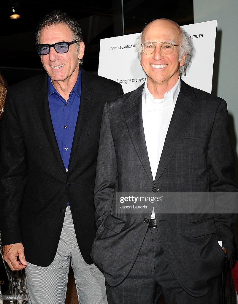 Actor Michael Richards and <a gi-track='captionPersonalityLinkClicked' href=/galleries/search?phrase=Larry+David&family=editorial&specificpeople=125184 ng-click='$event.stopPropagation()'>Larry David</a> attend the premiere of 'Fed Up' at Pacfic Design Center on May 8, 2014 in West Hollywood, California.