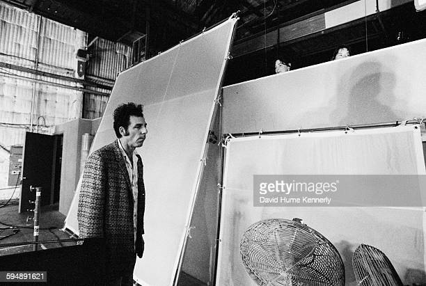 Actor Michael Richards who plays 'Kramer' on set in between filming the last episode of 'Seinfeld' April 3 1998 in Studio City California