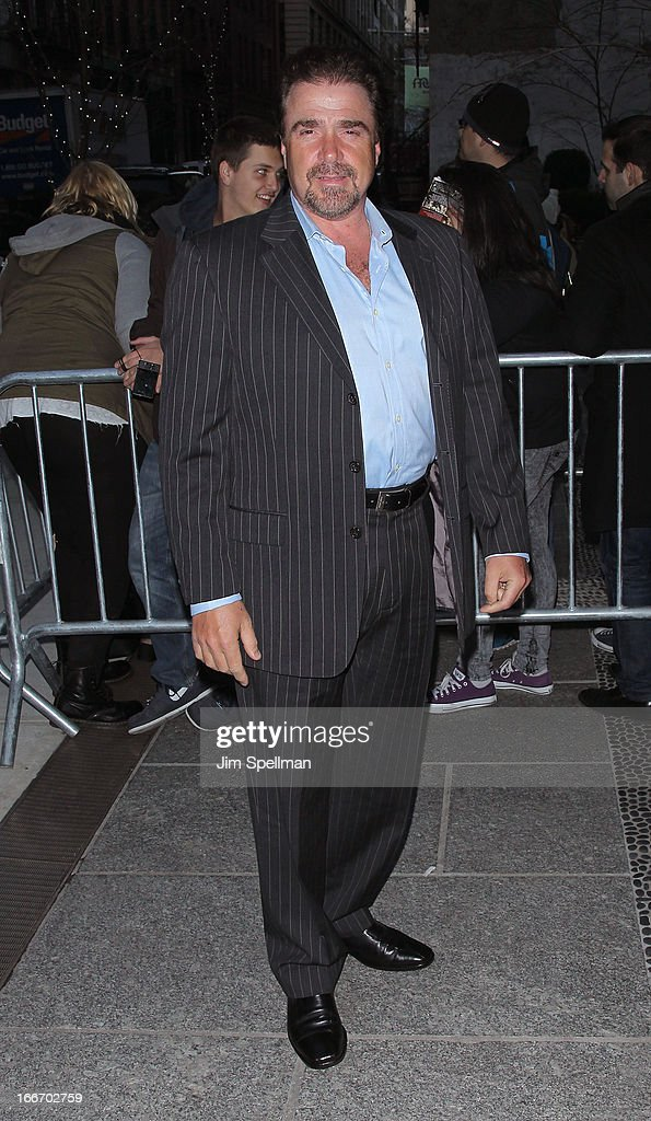Actor Michael Rispoli attends The Cinema Society and Men's Fitness screening of 'Pain and Gain' at Crosby Street Hotel on April 15, 2013 in New York City.